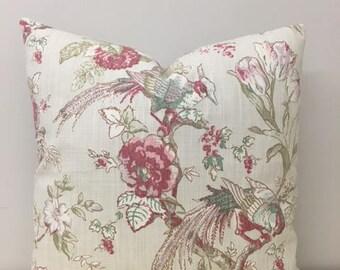 Linen Pillow, Linen Pillow Cover, Bird Pattern Pillow, Linen Cushion Case, Pillow Case, Decorative Pillow, Throw Pillows, Linen Pillows