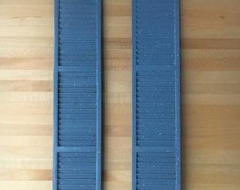 1/12 Miniature Blue Window Shutter 3.4*17.3cm