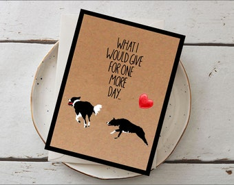 Choose Your Breed! Personalised Pet Sympathy/ Dog Loss/ Grievance/ In Loving Memory Card For Any Breed of Dog