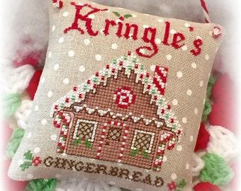 Kringle's Gingerbread Christmas Cross Stitch PDF Digital Pattern