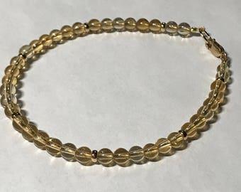 Solar Plexus Chakra Citrine Gemstone Bracelet