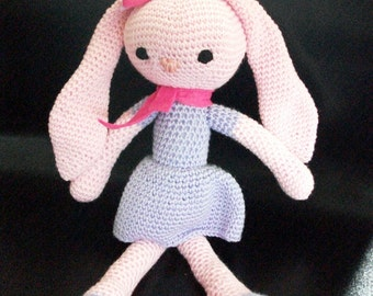 Tea the Amigurumi Bunny. Doll to give away. Doll as a Gift