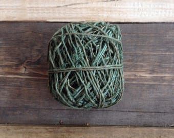 Green Hemp String Twine Yarn Fair Trade Ethical