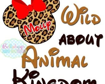 Wild about Animal Kingdom - Cheetah Minnie Safari IRON ON TRANSFER - Tshirt - Bodysuit - Tote Bags - Personalized - Disney