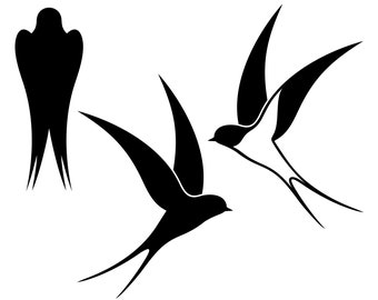 Swallow, Swallows, Silhouette,SVG,Graphics,Illustration,Vector,Logo,Digital,Clipart