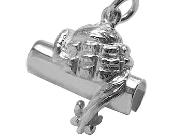 Lawyer Barrister Brief and Wig Sterling Silver Bracelet Charm Solid .925