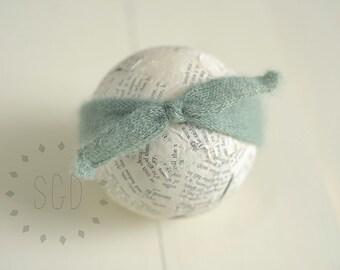 Newborn Turban Headband ~ knit mohair headband