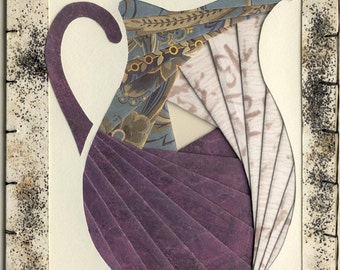 Handmade Thinking of You Greeting Card - Iris folded Pitcher v.4