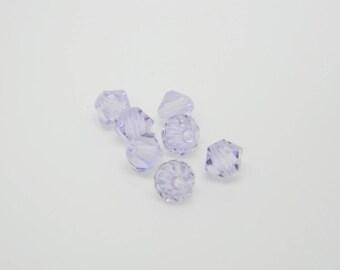 Lot 18 x Pearl spinning swarovski crystal light amethyst 4mm (l844)