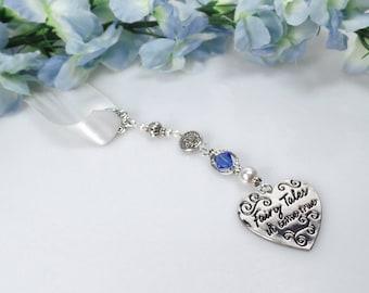 Something Blue Bridal Bouquet Charm Wedding Bouquet Charm Bridal Bouquet Charm Something Blue For Bride Heart Bouquet Charm Bridal Shower