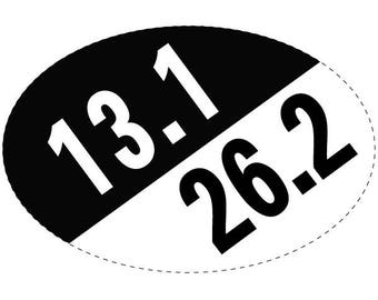 13.1/26.2 Oval Decal
