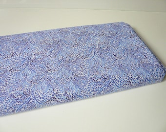 Fabric patterns branches and leaves watercolor indigo colors - 20 cm