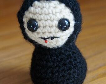 Vampire Crocheted Amigurumi Halloween doll