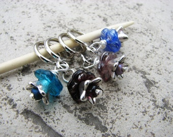 Flower Jewels Non-Snag Stitch Markers