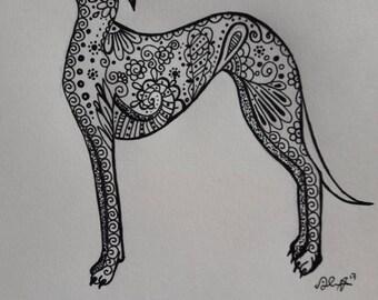 Greyhound artwork/tattoo design