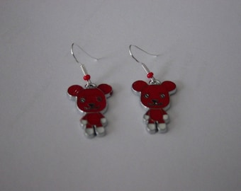 Little red dog earrings