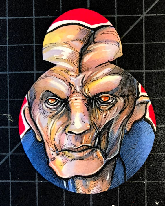 Journey to the Last Jedi Original Artist Sketch Card: Snoke die cut card