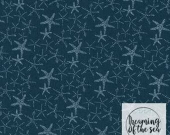 Dear Stella Starfish Fabric // Quilting Cotton // Cotton Woven // 100% cotton // Starfish Fabric