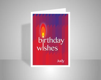 Birthday Wishes For Her Friend ~ Rock n roll happy birthday card for her him personalised name