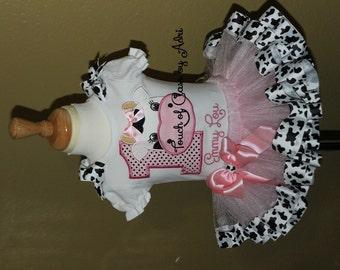 Cowgirl princess Inspired  Ribbon Tutu set