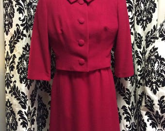 50's Cherry Red Dress Suit