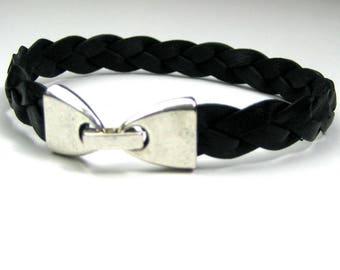 Braided suede N2690 men bracelet