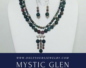 Mystic Glen Necklace and Earrings