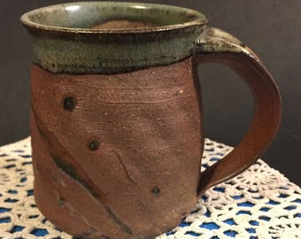 17-42: Coffee cup, 8oz. Wood fired. Ready to ship.