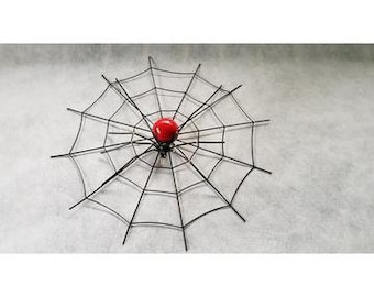 Redback Spider on Web Tin Art