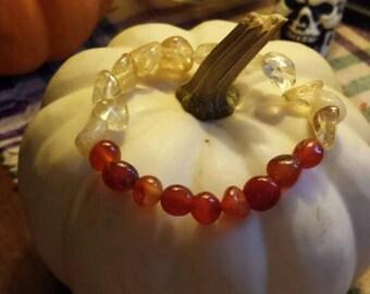 Carnelian and citrine bracelet