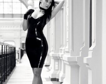 Classic latex dress