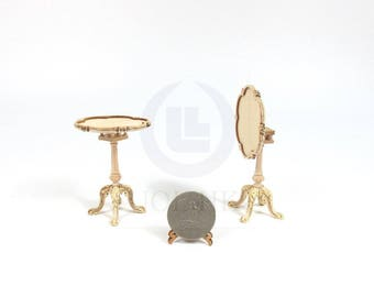 Miniature 1:12 Scale Doll House Tilt Top Wooden Tea Table [Unfinished ]