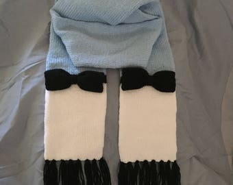 Alice in Wonderland Inspired Knit Scarf - Ready to Ship