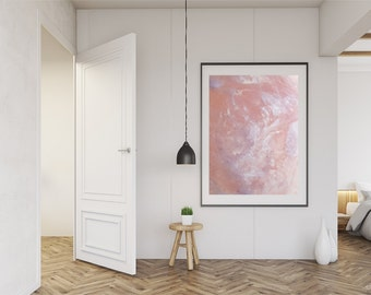 Rose Quartz Crystal Print / Crystal Print / Crystal Photography / Crystal Art / Pink Art Printable Art / Digital Download