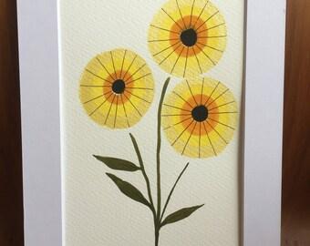 Yellow Flower original painting