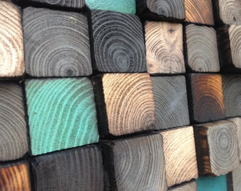 Wood Wall Art - Reclaimed Wood Sculpture