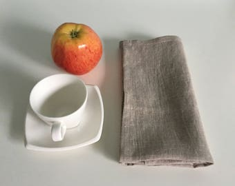 linen napkins set - Dinner linen napkin set of 4, 6, 8, 10, 12 - Softened handmade napkins - Wedding linen napkins - Natural.