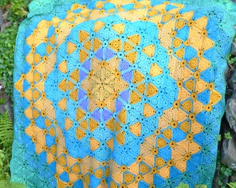 Cote de Lynmouth - Crochet Blanket - PDF Crochet Pattern