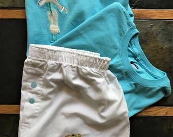 Victorian Teal Pajama Set