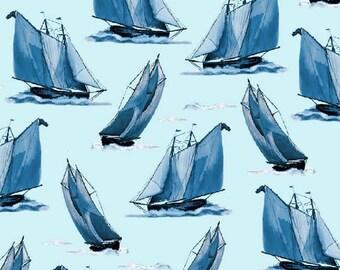 Quilting Treasures - Elizabeth Munro - Sail Away - Sailboats
