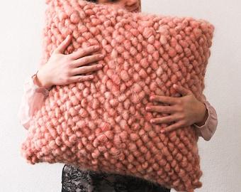 floor pillow pink, large wool floor pouf, floor cushion, floor pouf, floor pillow seating, pouf, floor cushions, big pillows, handmade