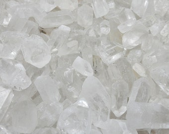 1/2 or 1 lb Crystal Points Crystal Quartz Grade A  High Quality Points from Brazil By Weight (OB7B6)