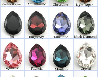 30x20mm Pear Shape Multi Colors Swarovski 4327 For Your Choice (S43273020)