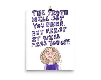 Gloria Quote Art Print