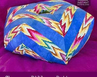 Chevron Pillow Pattern, Quilted Cushion Pattern, Zigzag Pillow Pattern, Patchwork Pillow Pattern, Zig Zag Pillow, 3D Cushion, Kaffe Fassett
