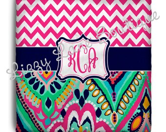 Custom Personalized Monogrammed Duvet Cover OR Comforter - (Twin, Full/Queen, or King) - Great for Dorms!