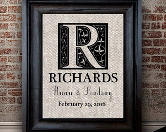 2 Year Anniversary for Him | Personalized Monogram Print | Cotton Anniversary Gift for Men | Unique Wedding Gift | Gift for Couple