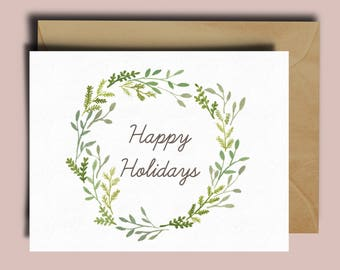 Happy Holiday Wreath Card