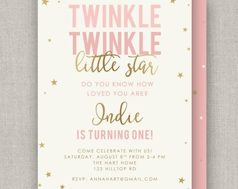 Twinkle Star Birthday Invitation