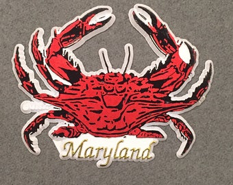 "Maryland Red Crab Refrigerator Magnet 3.25"""